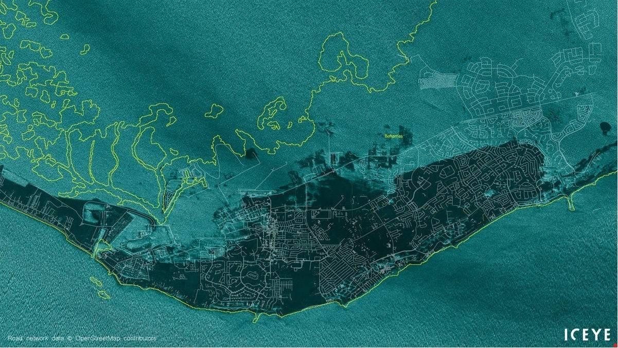Increíble: Mira como se ve desde el espacio Bahamas sumergida bajo el mar luego del paso del huracán
