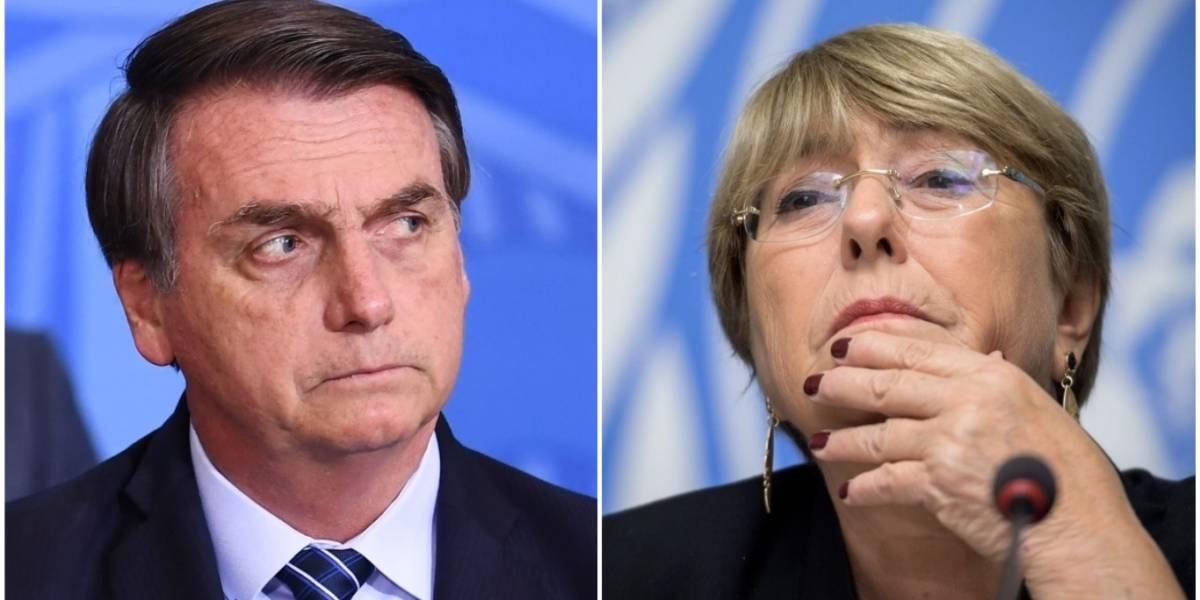 """Bolsonaro acusa a Bachelet de """"entrometerse"""" en la soberanía de Brasil"""