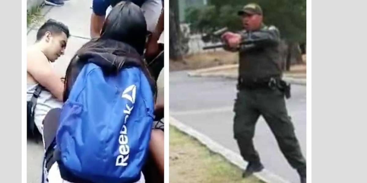 Investigarán a policías que atacaron a estudiantes en Soacha