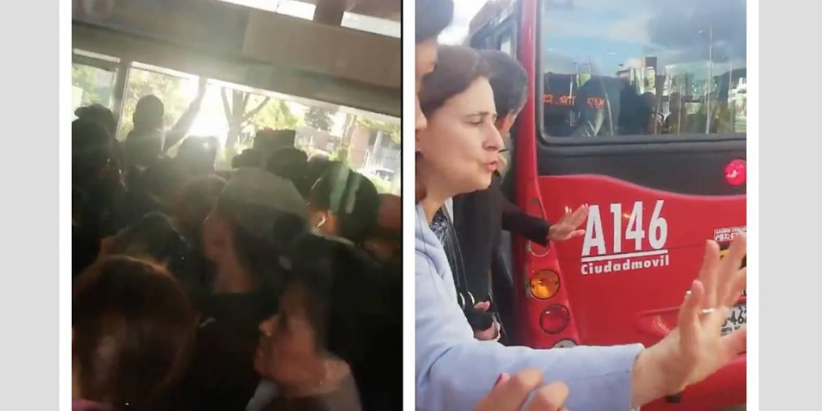 (VIDEO) Pasajeros de TM arriesgan sus vidas por impresionante congestión en estación de la Autonorte