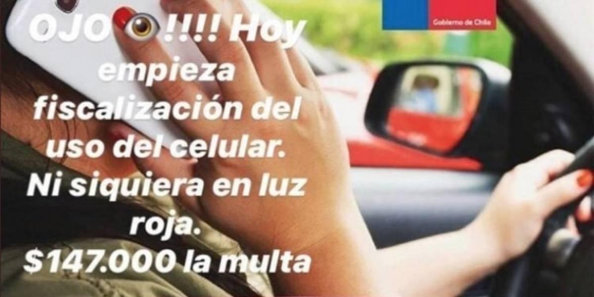Conaset desmiente imagen viralizada por WhatsApp sobre multas y fiscalizaciones por uso de celular al conducir