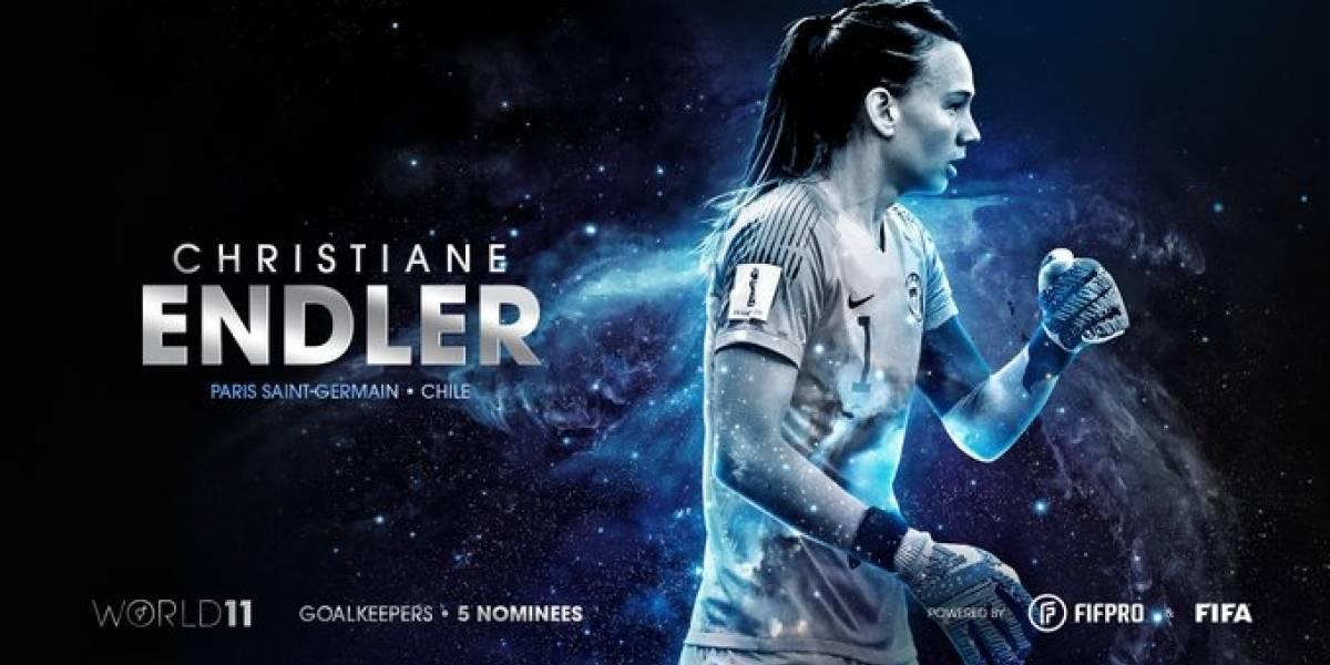 Christiane Endler y Camila Sáez fueron nominadas al once ideal del año de la FIFA
