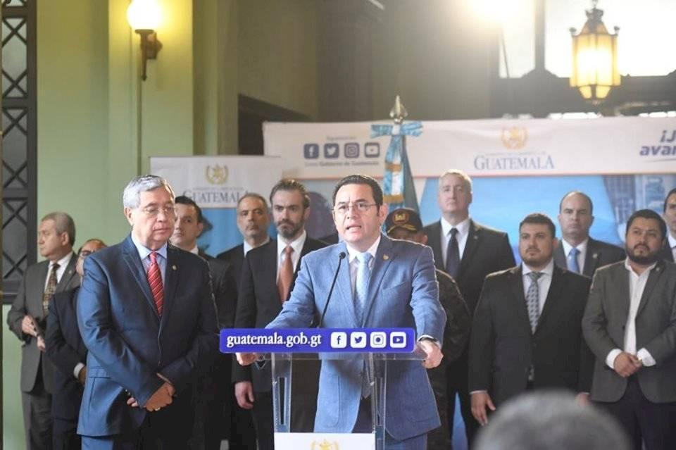 Gobierno de Jimmy Morales establece estado de sitio. Foto: Omar Solís