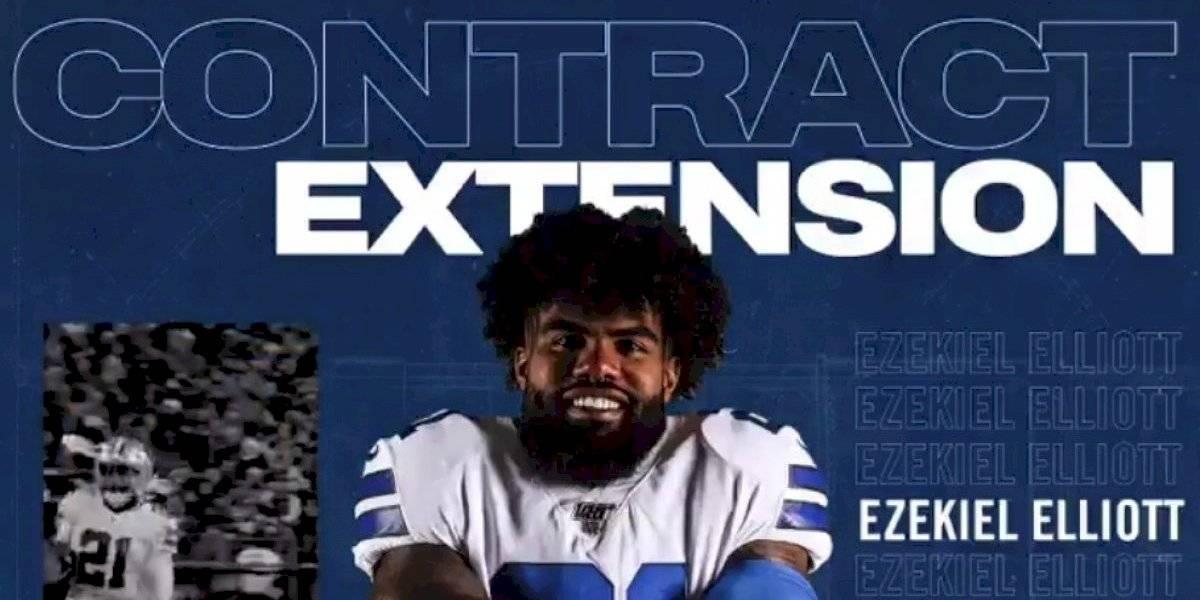 Ezekiel Elliott, el mejor pagado de la NFL tras renovar con los Cowboys