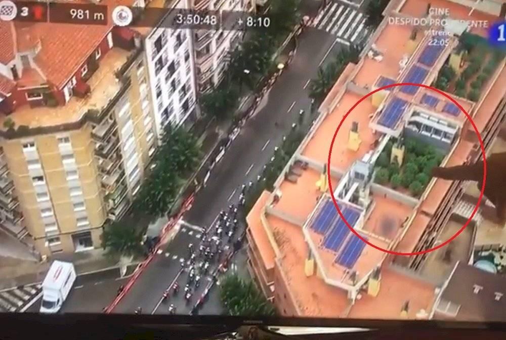 Marihuana en el helicóptero de la Vuelta a España