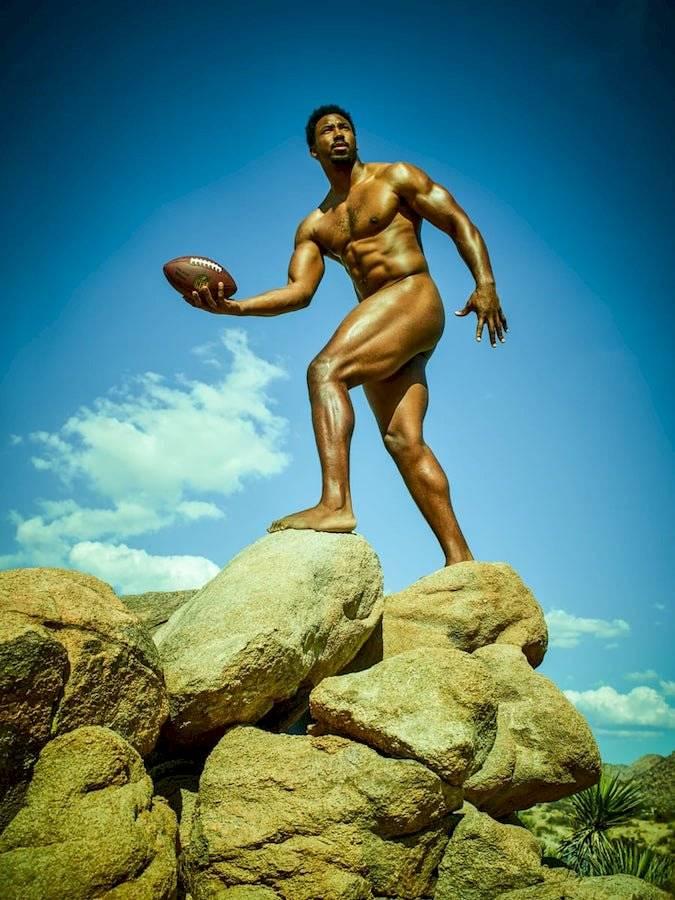 Myles Garret, defensivo de los Browns de Cleveland. espn.com.mx