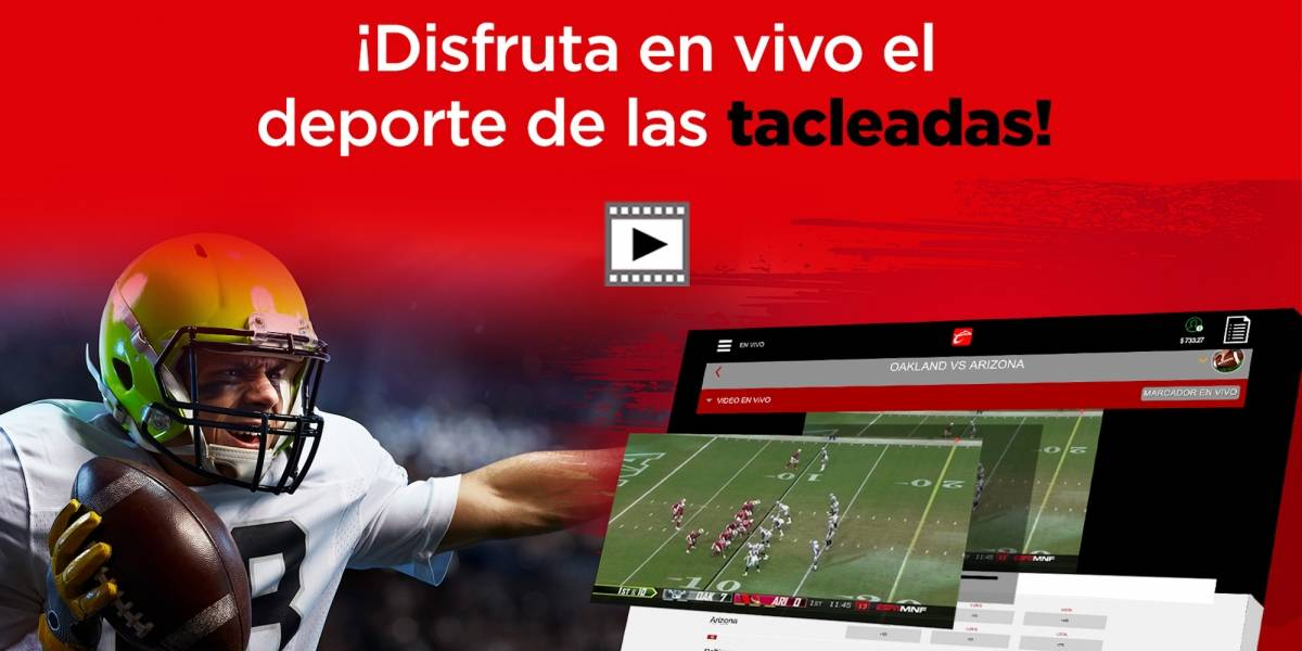 Toda la NFL en VIVO desde tu cuenta Caliente.mx