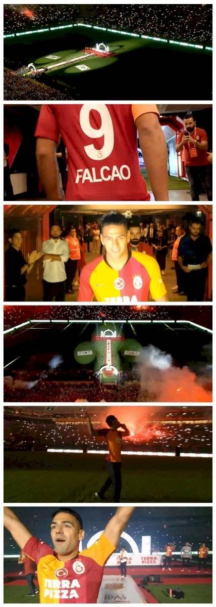 Entrada Falcao estadio Galatasaray
