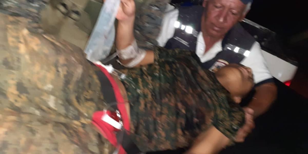Militar herido en emboscada en El Estor, Izabal, fue rescatado