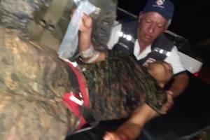 Soldado rescatado de Semuc II, El Estor, Izabal.