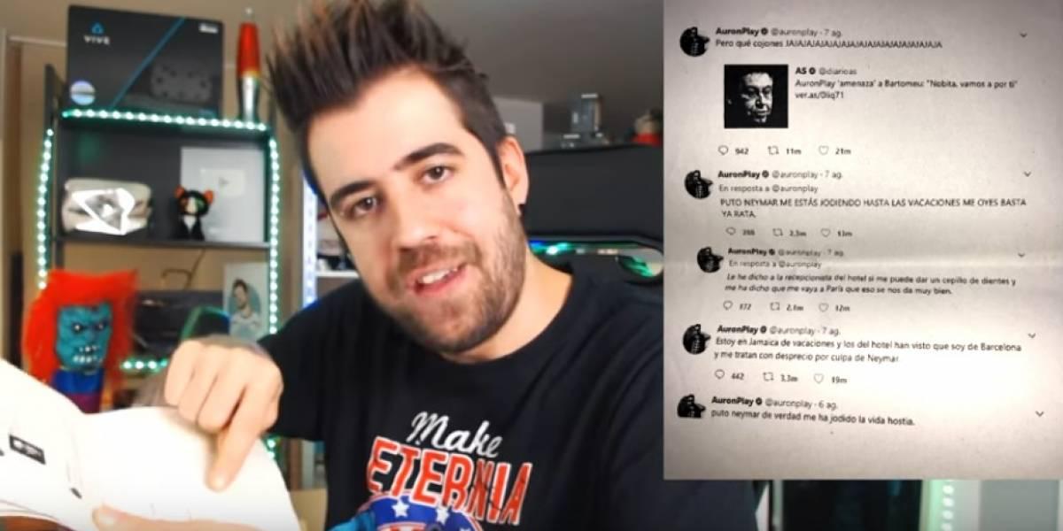Presidente del Barcelona denuncia al youtuber AuronPlay