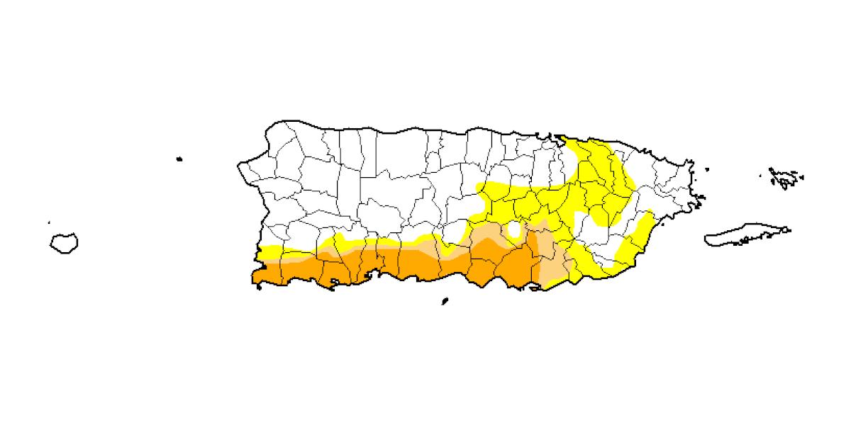 Leve caída en los niveles de sequía