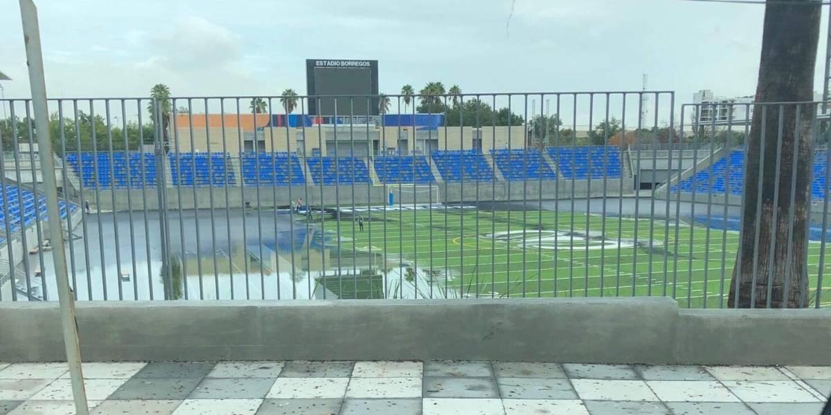 Queda Estadio Borregos y Gaspar Mass bajo el agua