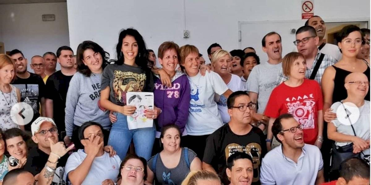 VIDEO. Georgina Rodríguez y las lágrimas de felicidad de un joven con Down