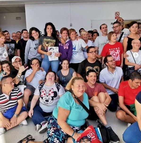Georgina Rodríguez Fundación Esfera Síndrome de Down