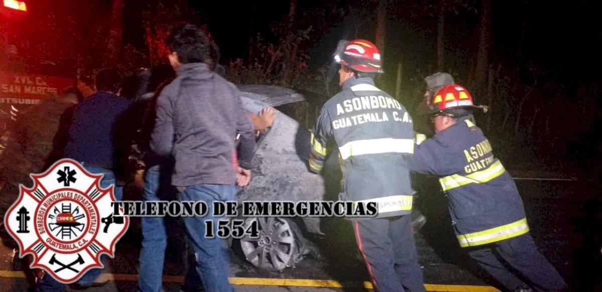 Accidentes en el Occidente de Guatemala Bomberos Municipales Departamentales.