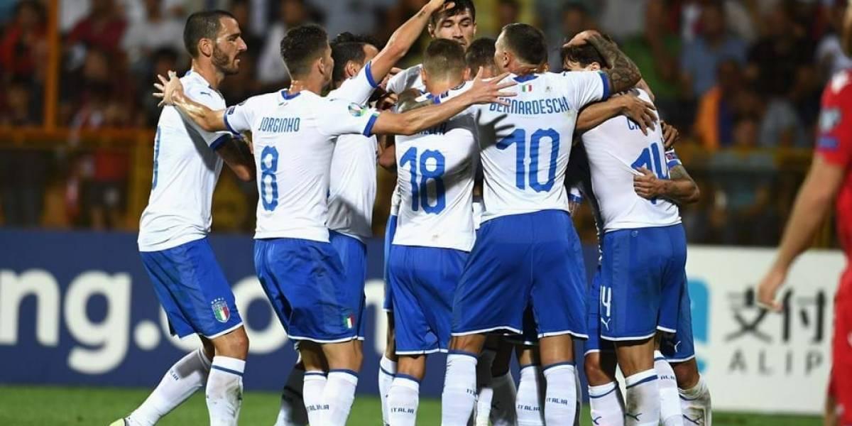 Italia gana su quinto partido consecutivo en eliminatoria a la EURO 2020