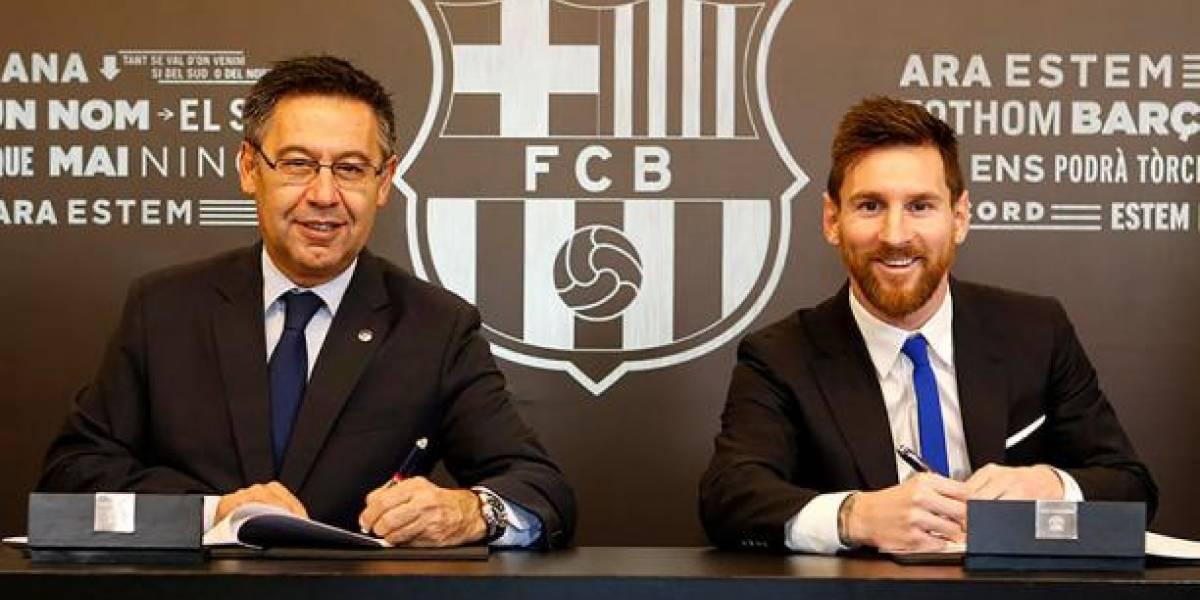"""Revelan """"extraña cláusula"""" que permitiría a Messi abandonar el Barcelona"""