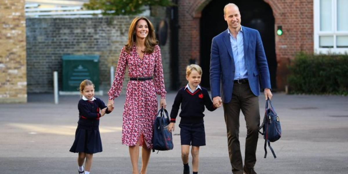 Familia real comparte tiernas imágenes de la princesa Charlotte en su primer día de colegio