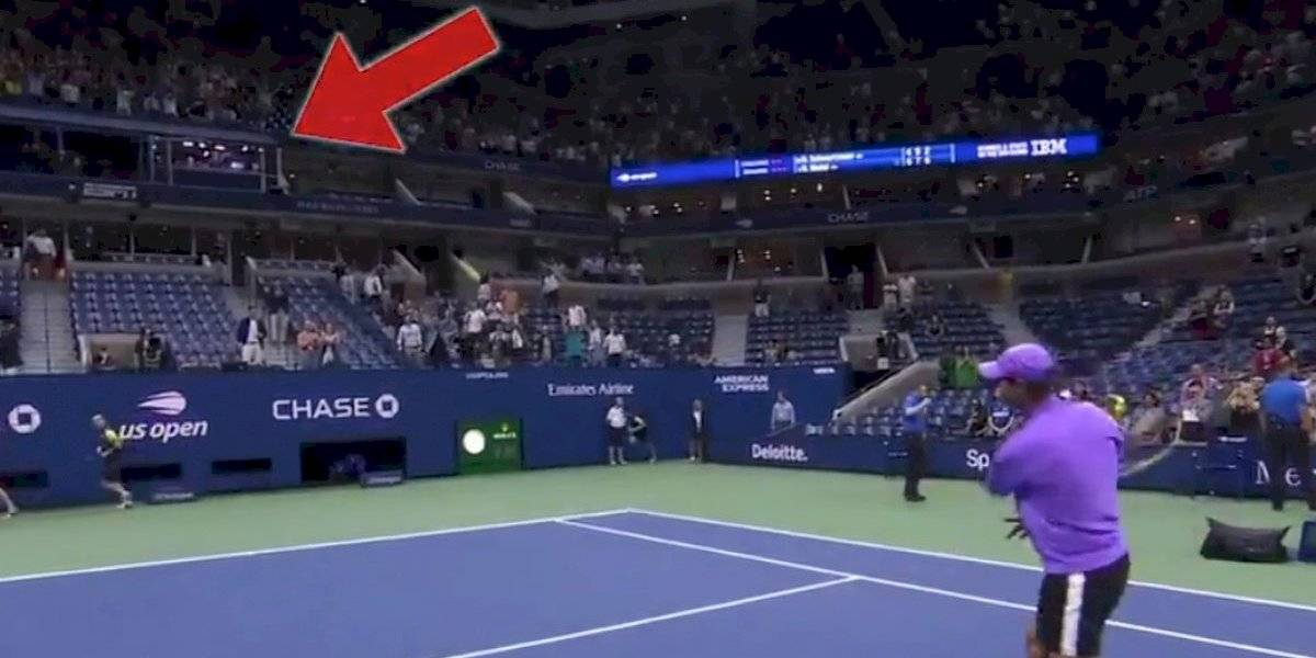 ¡Directo! Rafael Nadal sorprende con pelotazo a cabina de comentaristas
