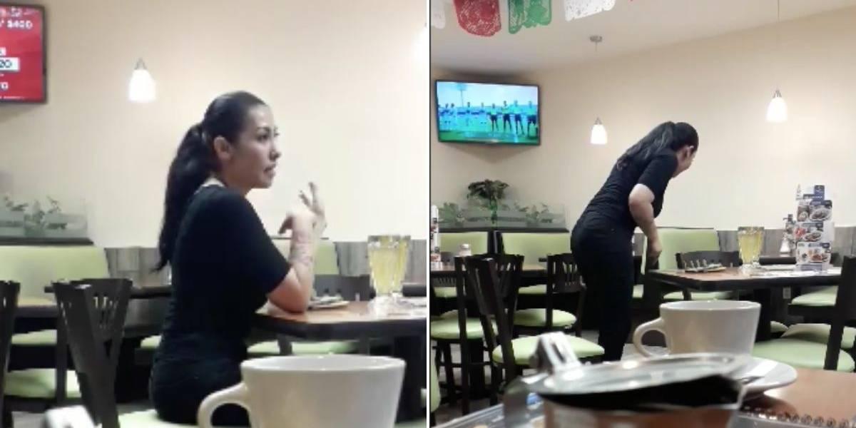 Mujer se pelea con su 'novio imaginario' y el video se hace viral en redes