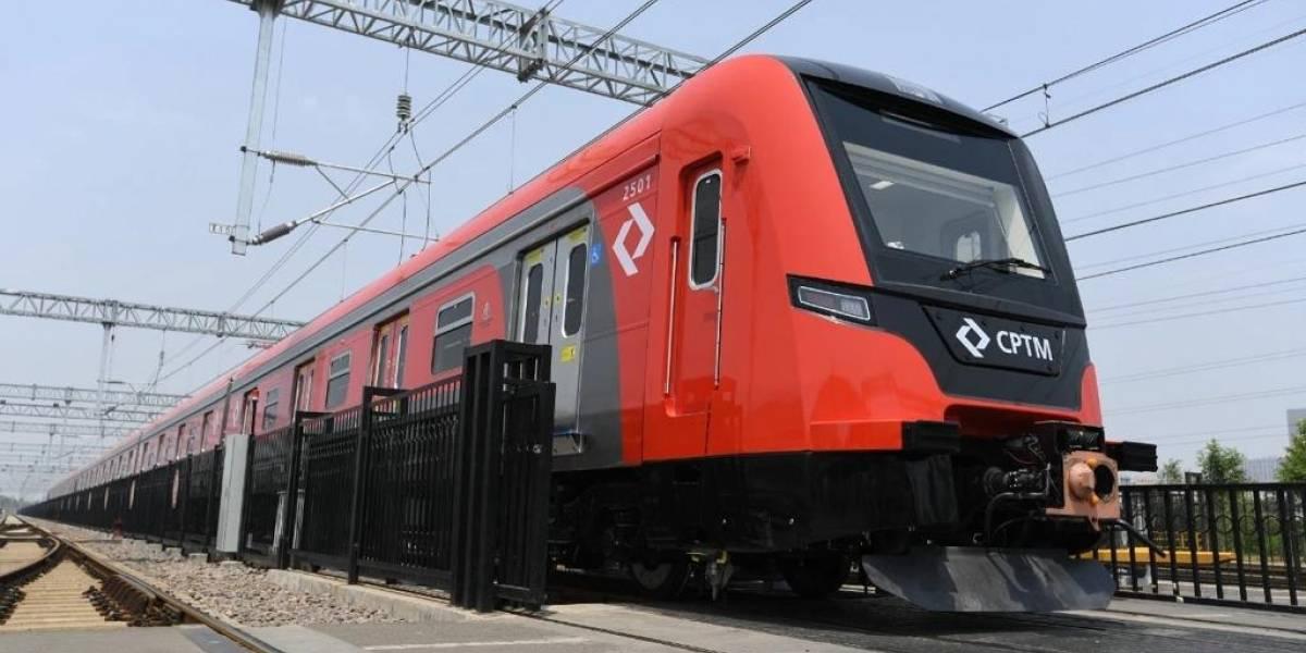 Primeiro trem chinês comprado para linha 13-Jade da CPTM chega ao Brasil