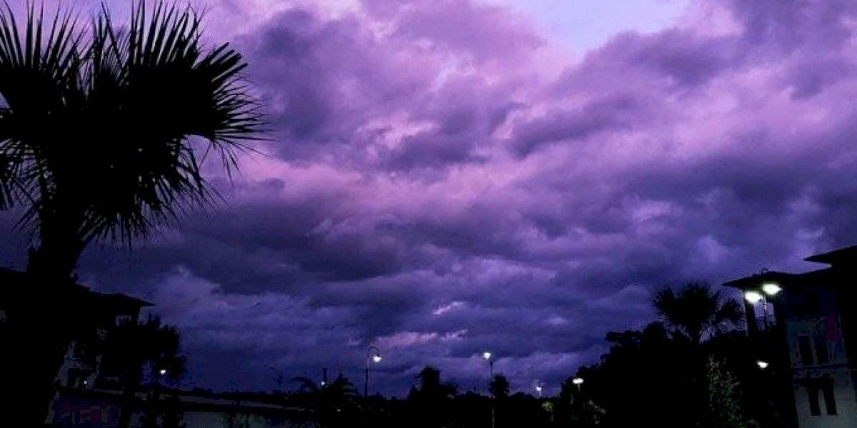 ¿Nubes moradas? Las razones por las que el cielo en Florida cambió de color con el paso del huracán Dorian
