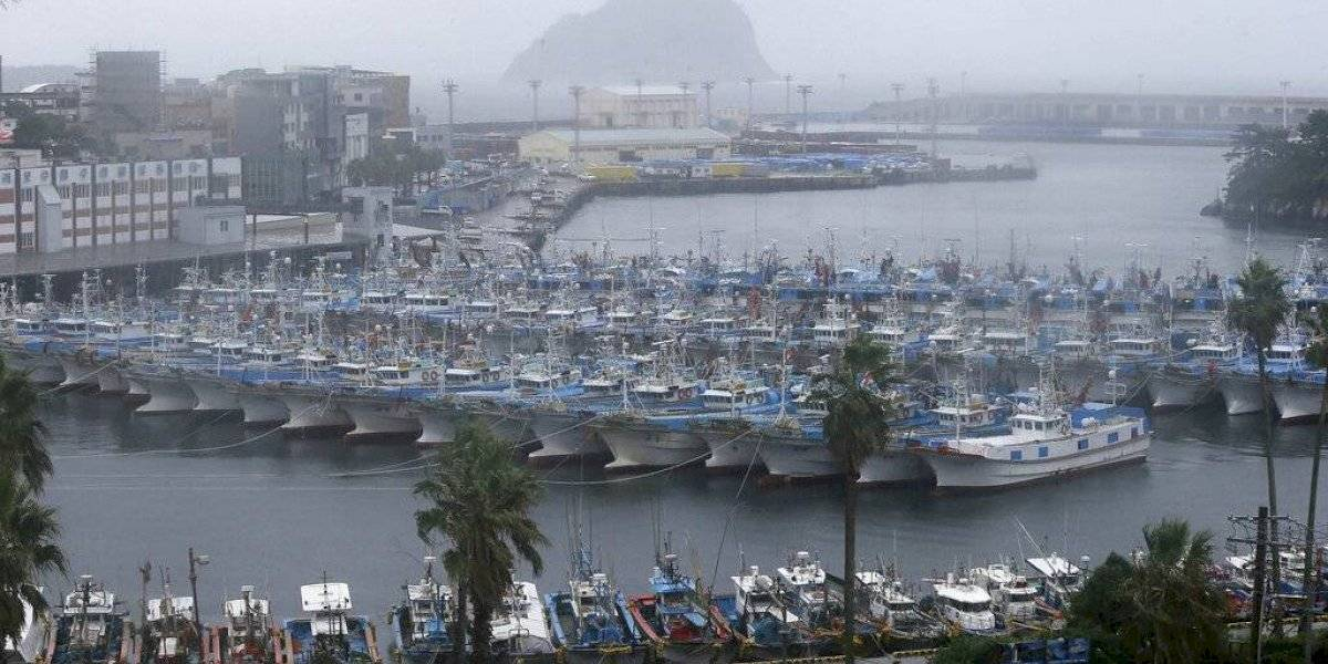 Tifón avanza hacia la península coreana