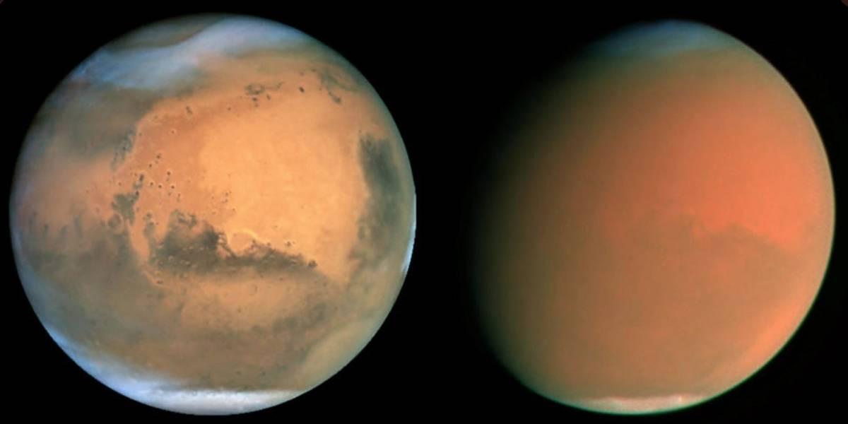 NASA revela detalhes sobre intensa tempestade de areia que atingiu o planeta vermelho