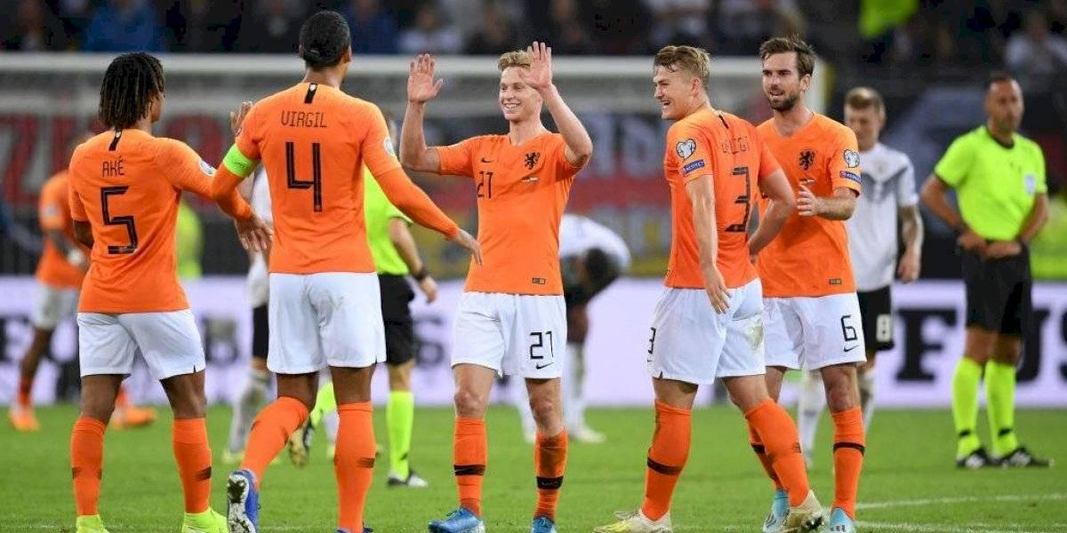 Holanda vuelve al triunfo ante Alemania y se acerca a los puestos de clasificación a la Eurocopa 2020