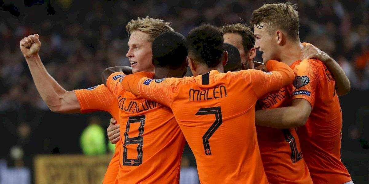 Holanda derrotó 4-2 a Alemania en duelo de eliminatorias rumbo a la Euro 2020