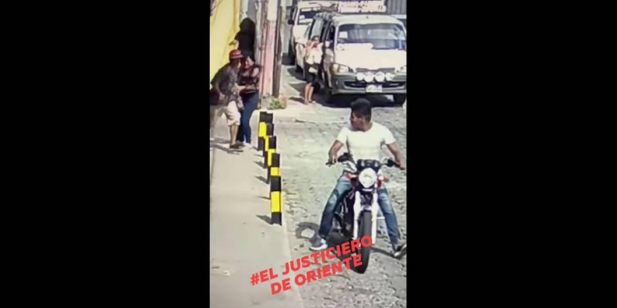 VIDEO. Mujer resulta con grave herida en la cabeza al ser asaltada en Chiquimula