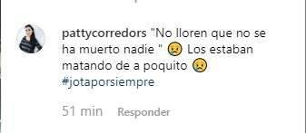 Captura de pantalla // Comentario Instagram