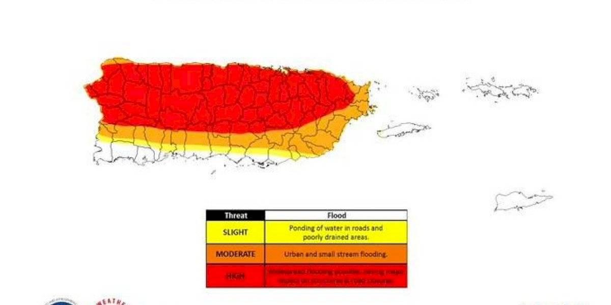 Bajo vigilancia de inundaciones toda la isla hasta el domingo