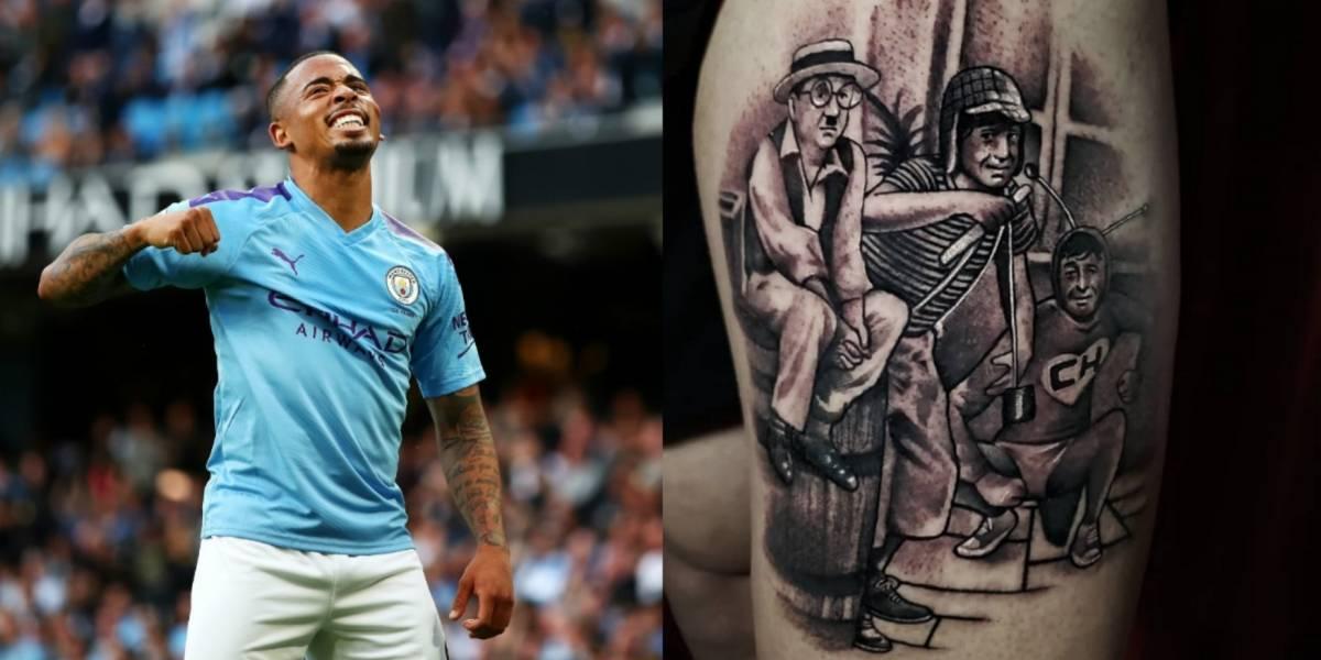 Gabriel Jesus se tatúa a los personajes de 'Chespirito'