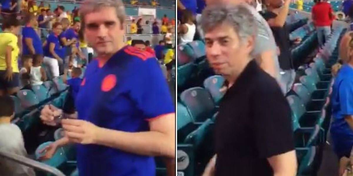 (VIDEO) Colombianos emberracados insultaron a Daniel Coronell y Félix de Bedout mientras veían Colombia vs Brasil