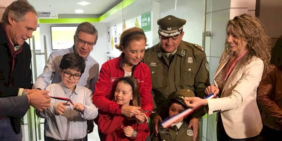 Ministra Hutt y Lavín inauguran el primer centro interactivo de educación vial para niños