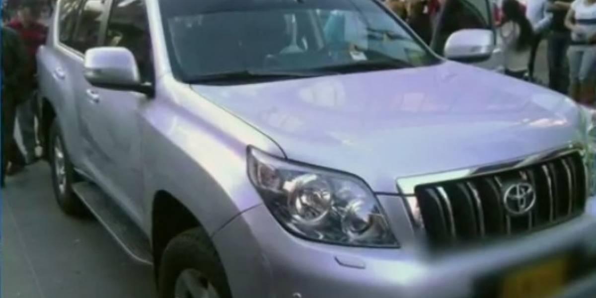 Ladrones de tiroteo en Fontibón usaron camioneta robada con placas oficiales