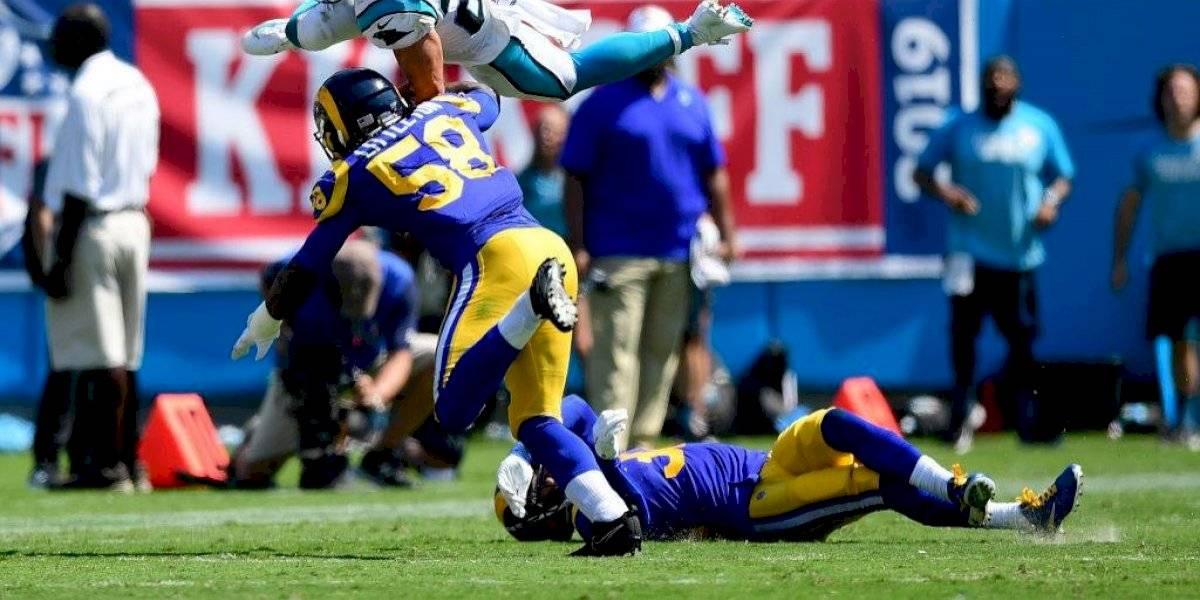 Jugador de los Rams termina cubierto en sangre en la semana 1