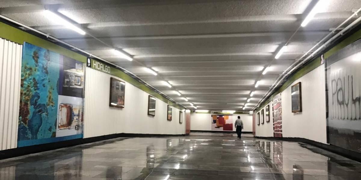 Inauguran la galería pública más grande del mundo en el Metro Hidalgo