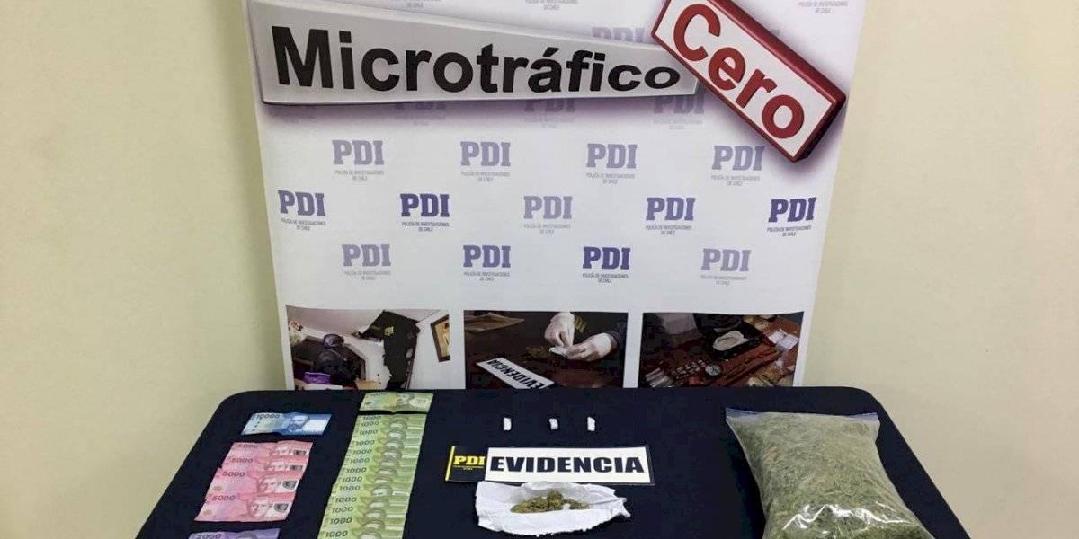 PDI detiene a dos personas por microtráfico de drogas en San Fernando