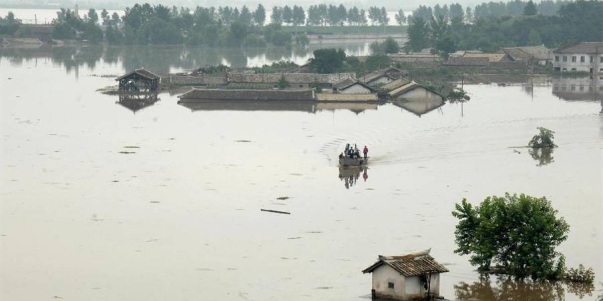 Tifón Lingling deja 5 muertos y cientos de casas destruidas en Corea del Norte