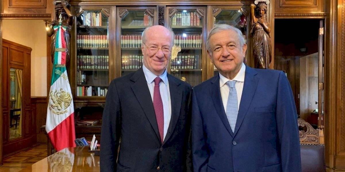 Se reúne AMLO en Palacio Nacional con el empresario Paolo Rocca