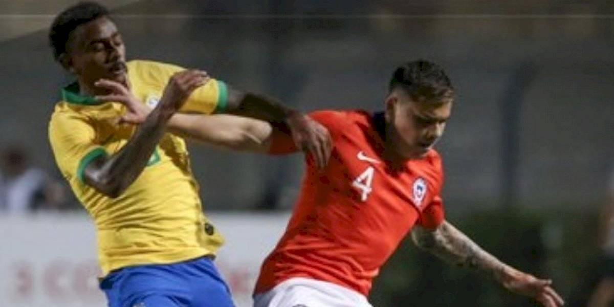 La Roja Sub 23 se durmió en el inicio de ambos tiempos y cayó ante un contundente Brasil en un áspero partido