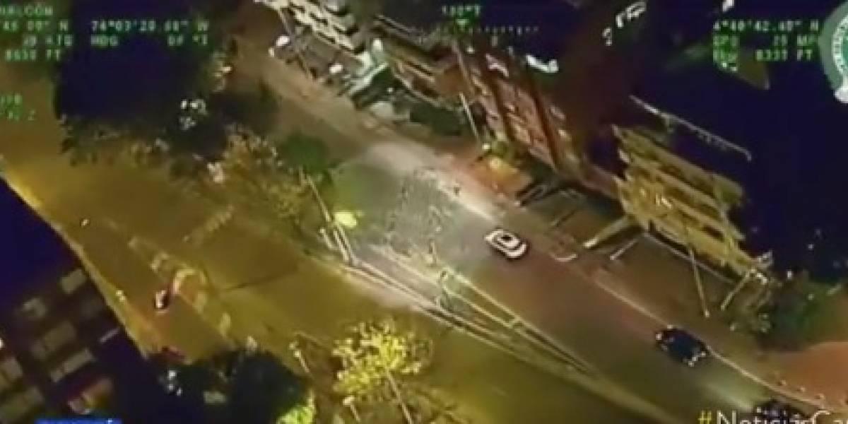Persecución de Película entre ladrón de camioneta y Policía en Bogotá