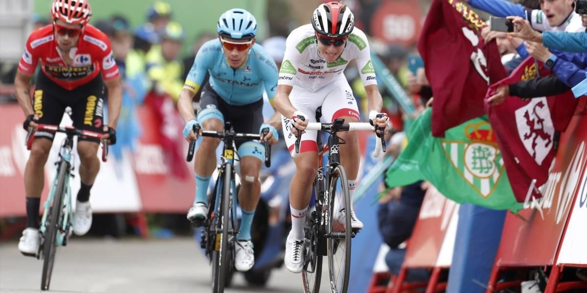 ¿Supermán López y Primoz Roglic se unieron para atacar a otro de los favoritos en La Vuelta?