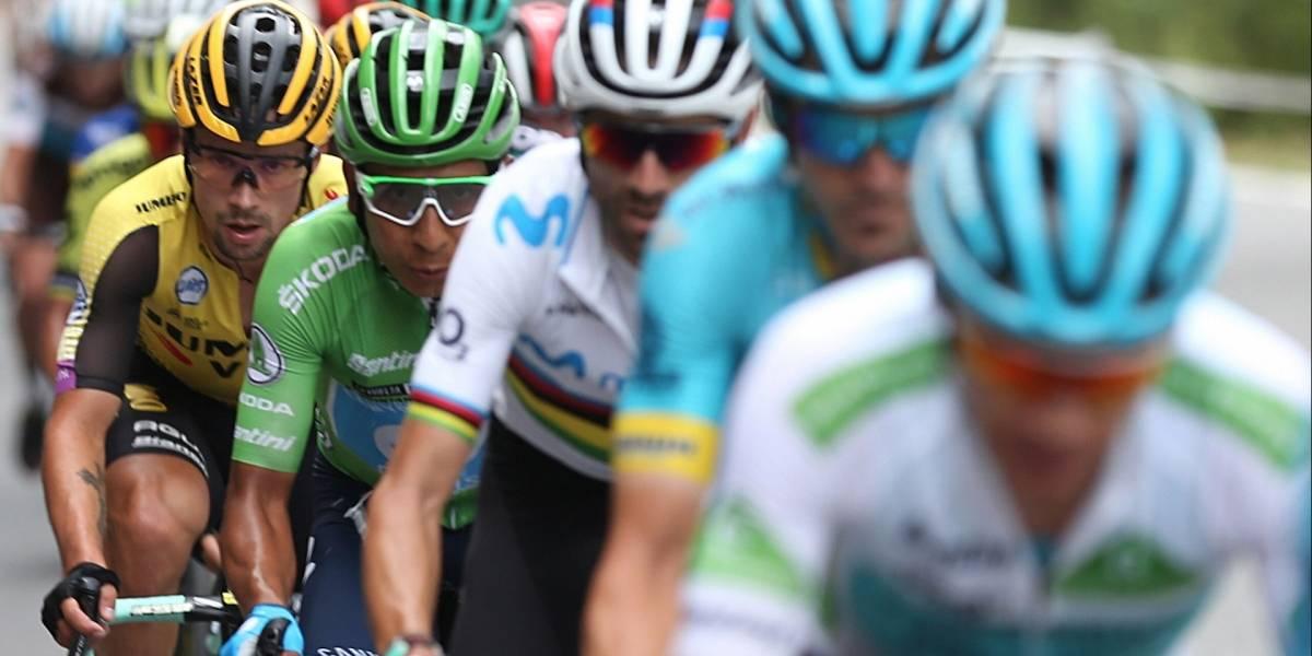 ¿Sacó el paraguas? Alejandro Valverde respondió tras perder bastante tiempo con Supermán López