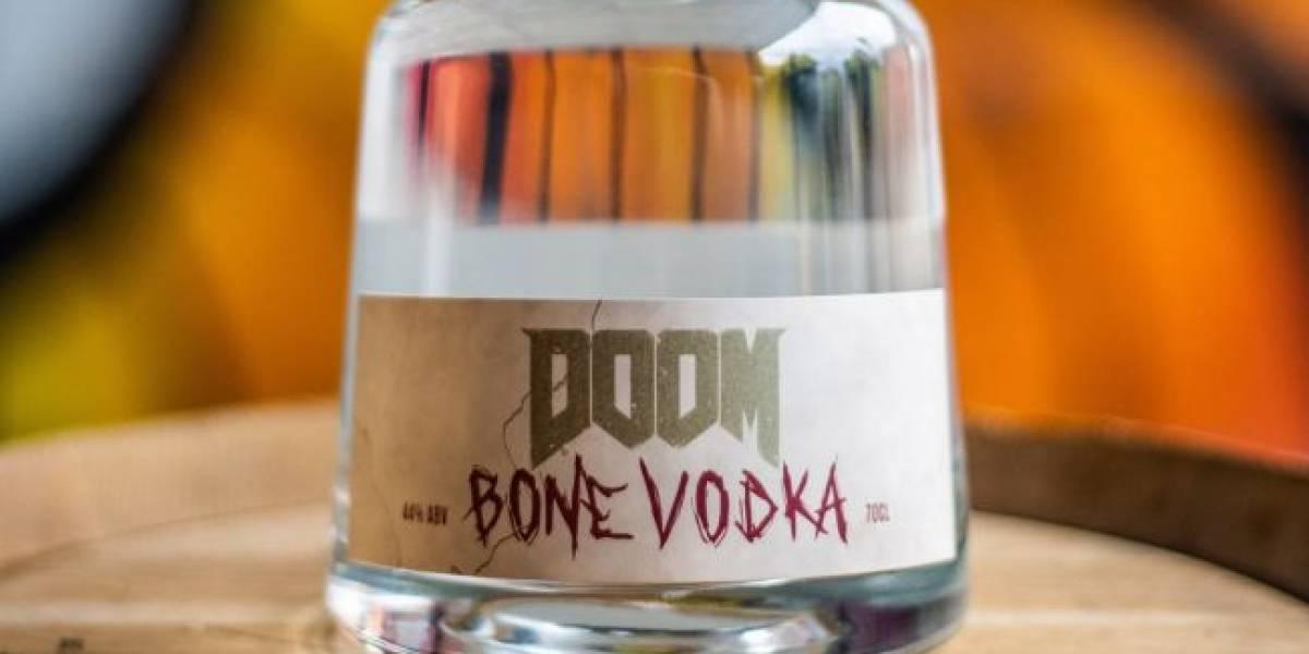 Bethesda anunció el lanzamiento de un extraño vodka de Doom hecho con huesos