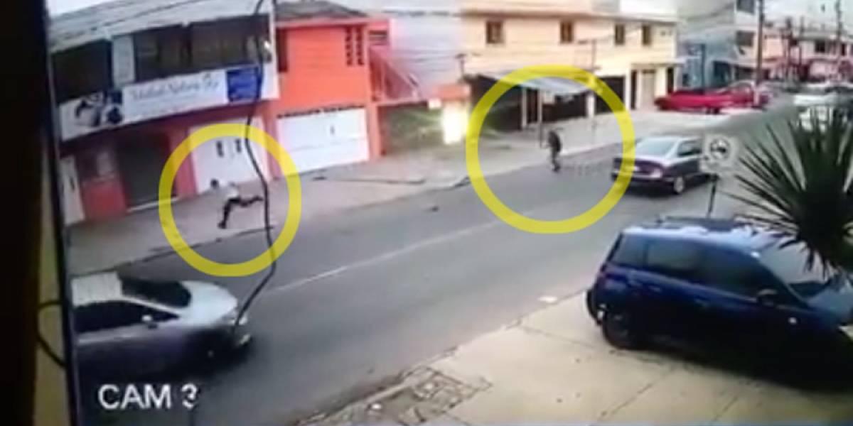 VIDEO. PNC investiga a persona que disparó contra supuesto extorsionador