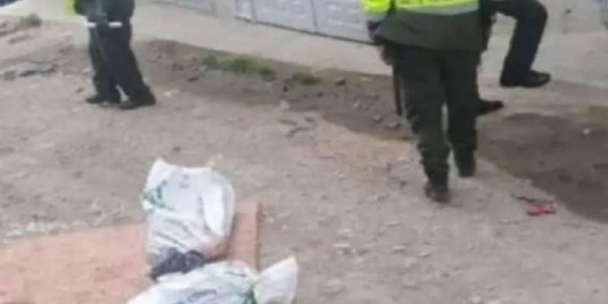 Encuentran cuerpo desmembrado dentro de costales en Bogotá